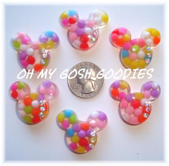 2PC *BUBBLE* MINNIE BLING RESIN