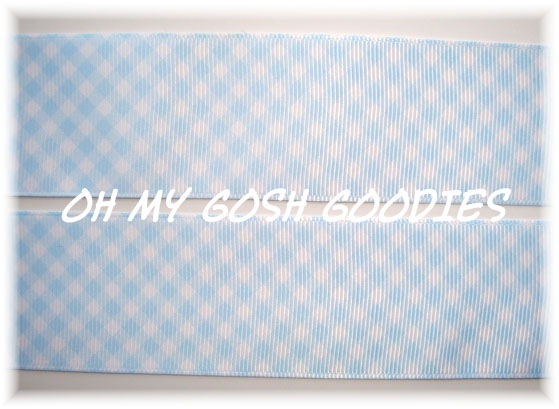 1.5 OOAK BABY BLUE GINGHAM CHECK - 4 1/2 YARDS