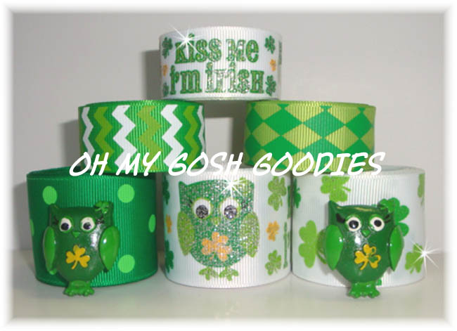 KISS ME I'M IRISH HOOT OWL RIBBON MIX