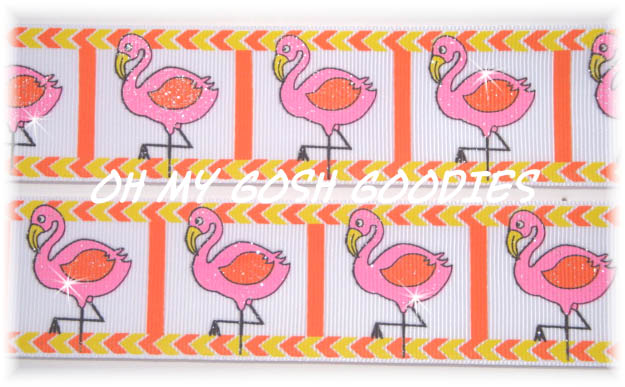 1.5 GLITTER FLAMINGO FLUTTER - 5 YARDS