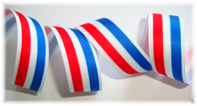 5/8 OOAK RED/WHITE/ROYAL STRIPE - 3 3/4 YARDS