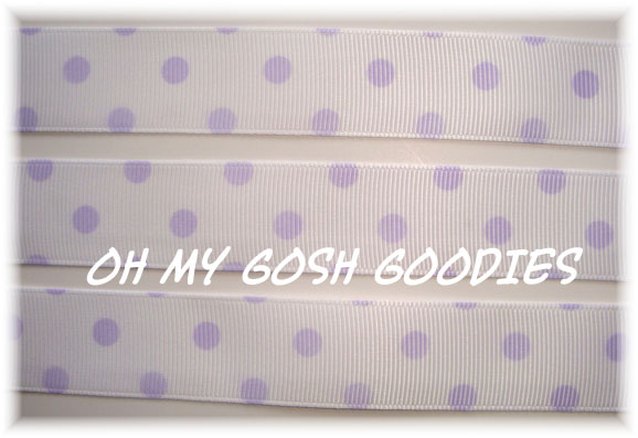 7/8 WHITE ORCHID VENUS DOTS - 5 YARDS