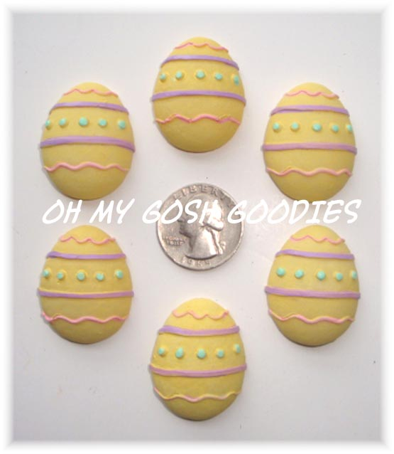 2PC EASTER YELLOW EGG RESINS