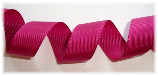 7/8 SALE VENUS RIBBON RASPBERRIES GROSGRAIN - 5 YARDS