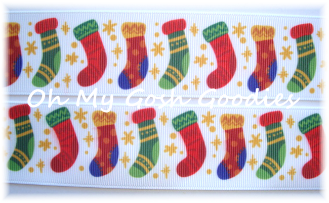 1.5 PRIMARY CHRISTMAS STOCKINGS - 5 YARDS