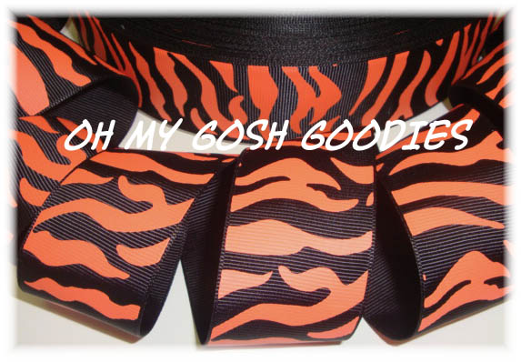 7/8 BLACK ORANGE ZEBRA - 5 YARDS