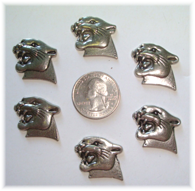 2PC * LIMITED PEWTER * PANTHER HAIRBOW CENTERS