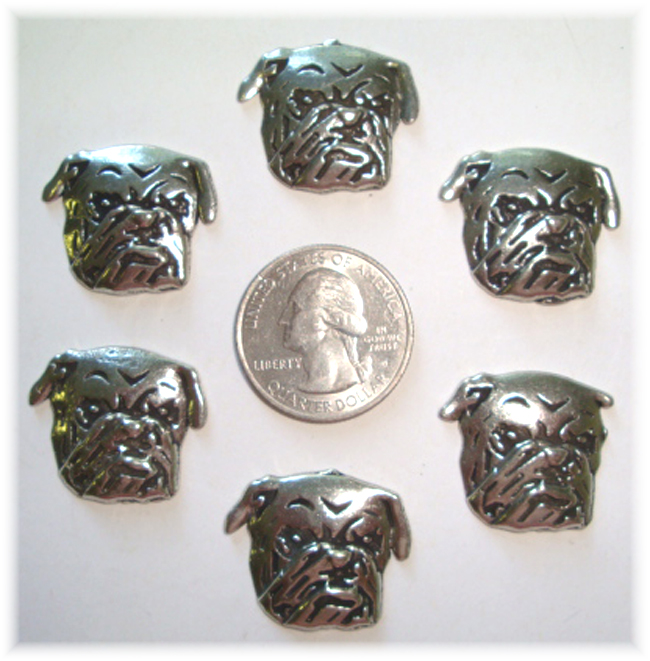 2PC * LIMITED PEWTER * BULLDOG HAIRBOW CENTERS