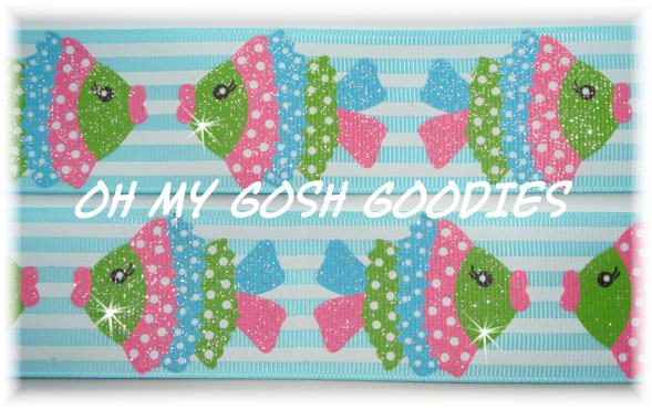 1.5 STRIPE KISSY FISH - 5 YARDS