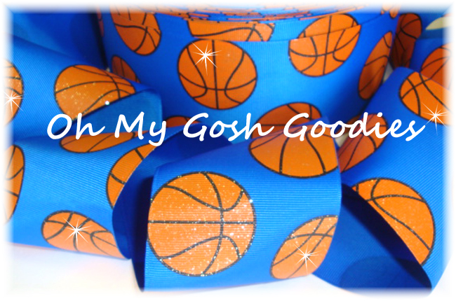 "3"" GLITTER BASKETBALL ROYAL - 5 YARDS"