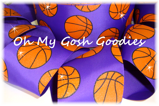 "3"" GLITTER BASKETBALL PURPLE - 5 YARDS"
