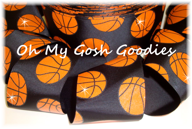 "3"" GLITTER BASKETBALL BLACK  - 5 YARDS"