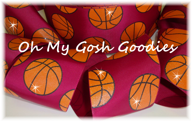 "3"" GLITTER BASKETBALL MAROON - 5 YARDS"