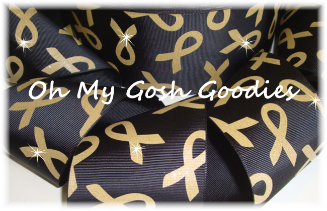 "3"" GLITTER CHILDHOOD AWARENESS BLACK - 5 YARDS"