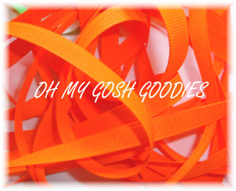 3/8 NEON FLUORESCENT ORANGE - 5 YARDS