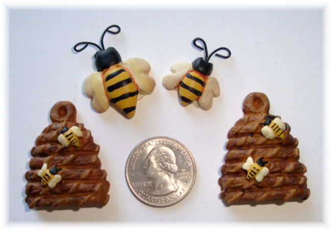 4PC BUMBLE BEE HIVE RESINS