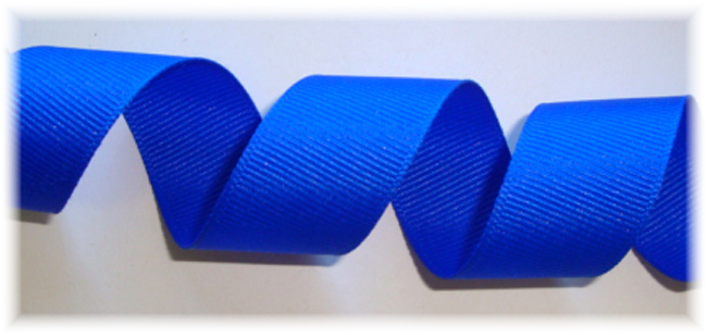 "7/8"" SOLID OFFRAY ELECTRIC BLUE - 5 YARDS"