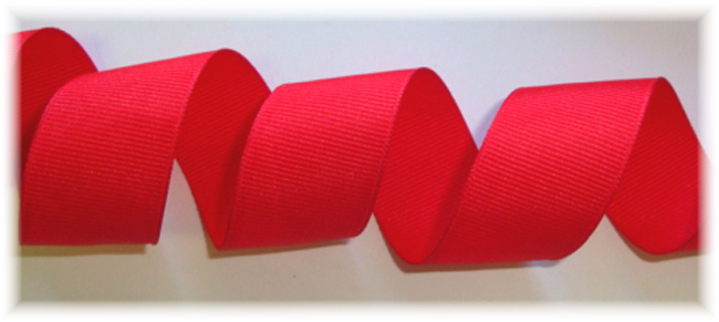 "7/8"" SOLID OFFRAY POPPY RED  - 5 YARDS"