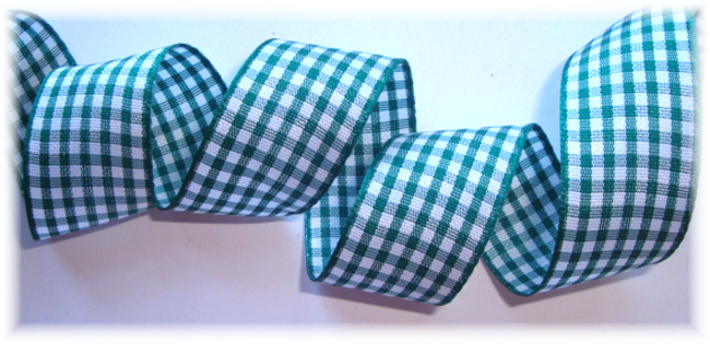 7/8 OOAK FOREST GREEN BITTY GINGHAM CHECK - 3 2/3 YARDS