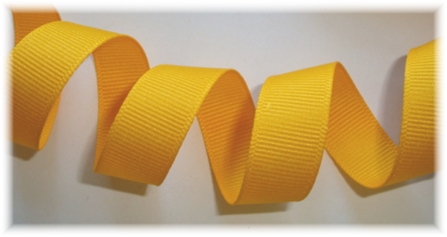5/8 YELLOW GOLD GROSGRAIN - 6 YARDS