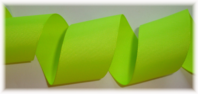 """1.5"""" OFFRAY SOLID NEON CHARTRUESE - 5 YARDS"""