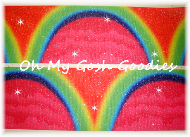 "3"" *ARCH * RAINBOW GLITTER OMBRE - 5 YARDS"