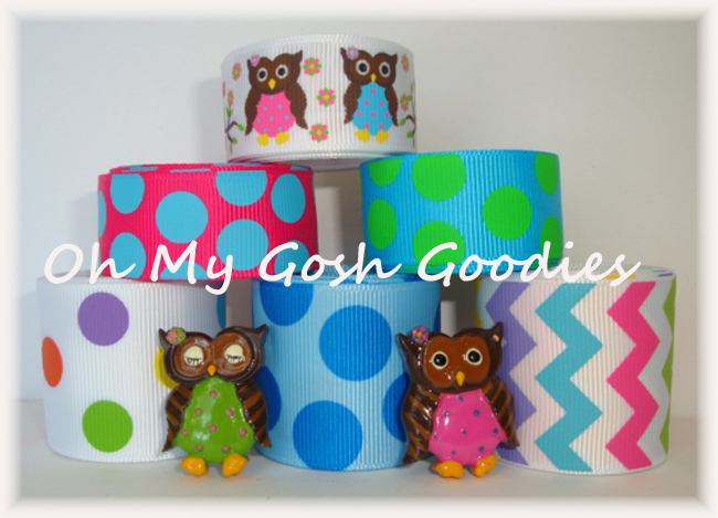 12Y+ RESINS POLKA DOT HOOTS RIBBON MIX