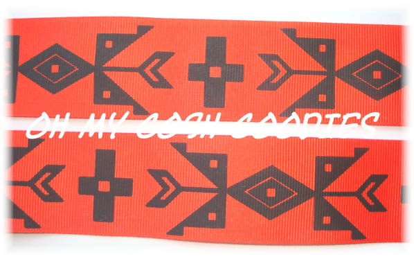 1.5 AZTEC SYMBOL ORANGE - 5 YARDS