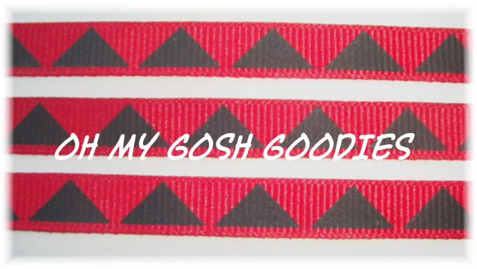 3/8 AZTEC TRIANGLE RED  - 5 YARDS