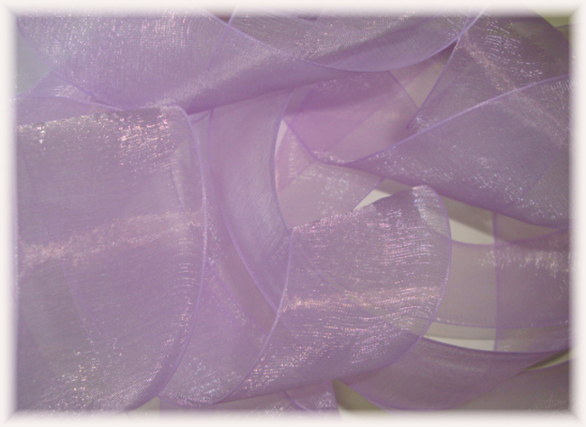1.5 OFFRAY SALE LADY CHIFFON LT ORCHID SHEER ORGANZA - 5 YARDS