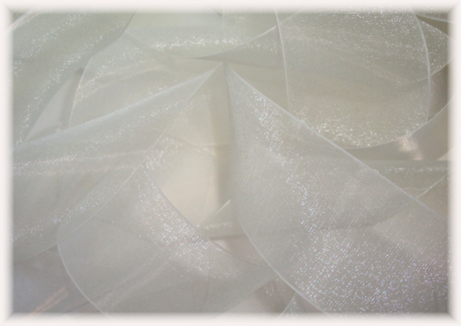 1.5 OFFRAY SALE LADY CHIFFON WHITE SHEER ORGANZA - 5 YARDS