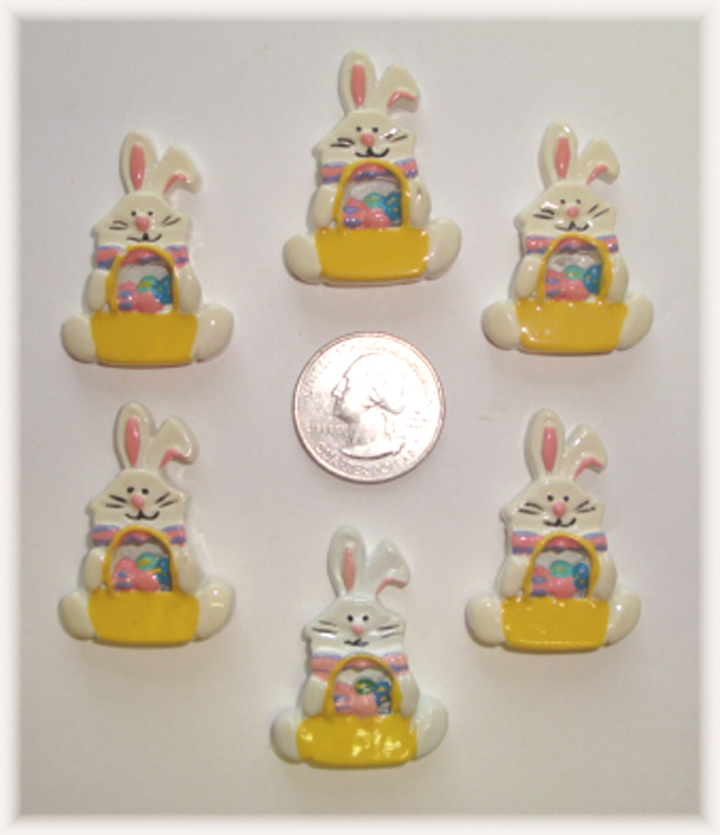 2PC SILLY BUNNY RABBIT EASTER RESINS