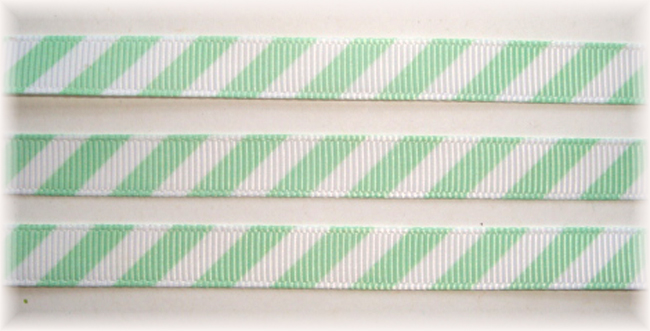 3/8 OOAK MINT WHITE DIAGONAL VENUS STRIPE - 20 YARDS