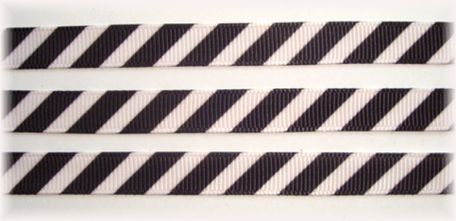 3/8 OOAK WHITE BLACK DIAGONAL VENUS STRIPE - 20 YARDS