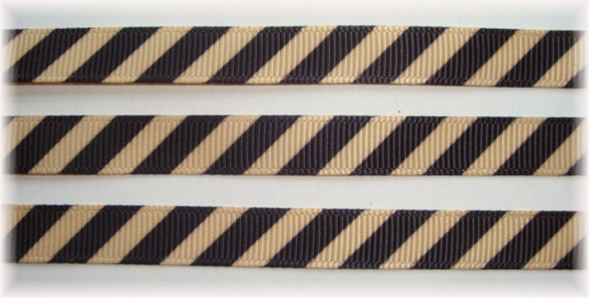 3/8 OOAK KHAKI BLACK DIAGONAL VENUS STRIPE - 20 YARDS