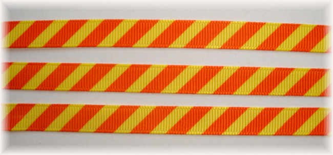 3/8 OOAK YELLOW ORANGE DIAGONAL VENUS STRIPE - 20 YARDS