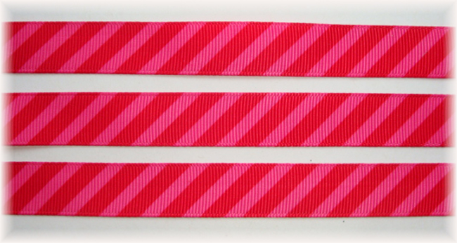 5/8 OOAK PINK RED DIAGONAL VENUS STRIPE - 20 YARDS