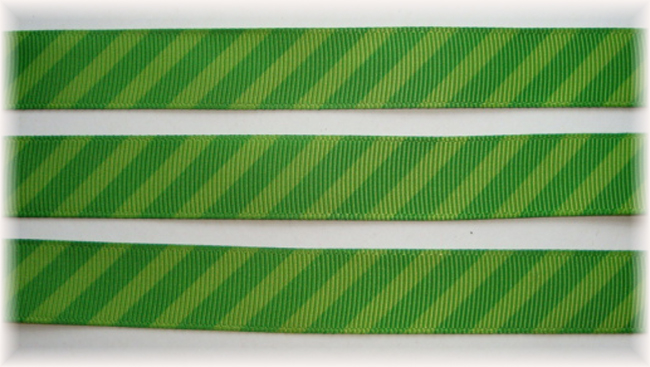 5/8 OOAK LIME GREEN DIAGONAL VENUS STRIPE - 20 YARDS