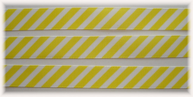 5/8 OOAK YELLOW WHITE DIAGONAL VENUS STRIPE - 20 YARDS