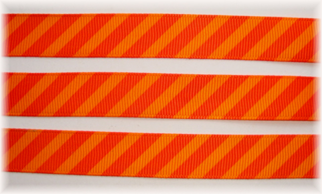 5/8 OOAK ORANGE TANGERINE DIAGONAL VENUS STRIPE - 20 YARDS