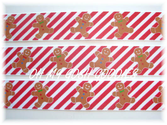 7/8 PEPPERMINT GINGERBREAD - 5 YARDS