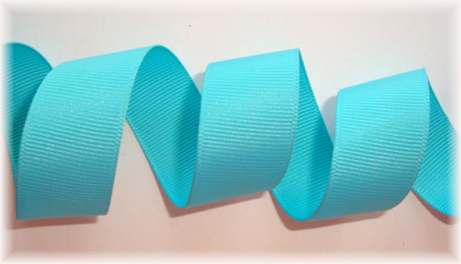 """7/8"""" SOLID OFFRAY MISTY TURQUOISE - 5 YARDS"""