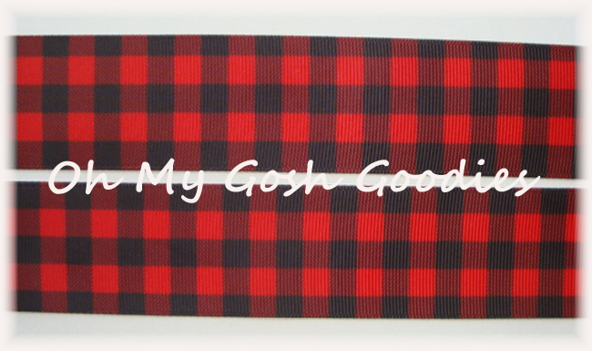 1.5 * CLASSIC * RED BLACK BUFFALO PLAID CHECK - 5 YARDS