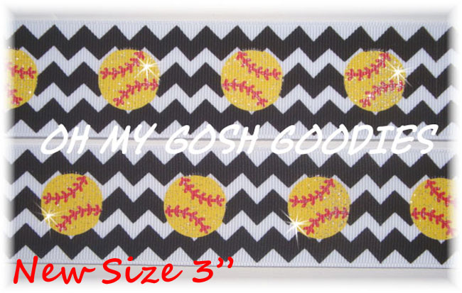 "3"" CHEVRON GLITTER SOFTBALL - 5 YARDS"