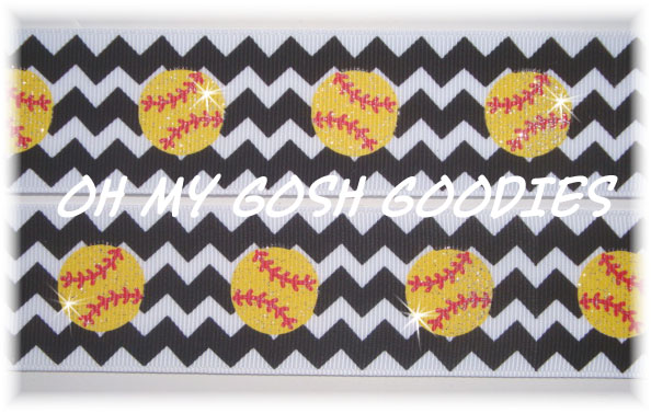1.5 CHEVRON GLITTER SOFTBALL - 5 YARDS