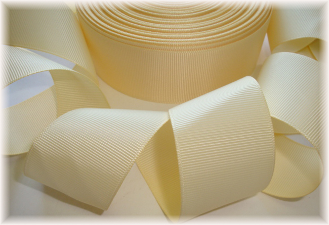 1.5 SALE BUTTERMILK SOLID GROSGRAIN - 5 YARDS