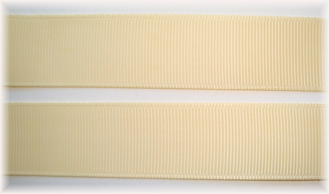 3/8 SALE BUTTERMILK SOLID GROSGRAIN - 5 YARDS