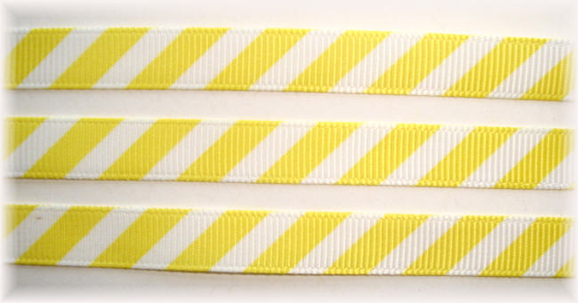 3/8 OOAK YELLOW WHITE DIAGONAL VENUS STRIPE - 20 YARDS