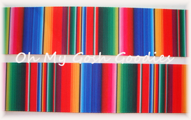 1.5 SERAPE STRIPE FIESTA RIBBON - 5 YARDS