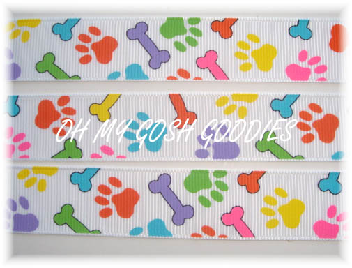 7/8 PUPPY DOG BONES WHITE - 5 YARDS